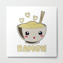 Ramen Love Japanese Noodle Soja Miso Soup Metal Print