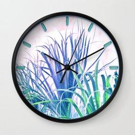 Pastel Palms Wall Clock