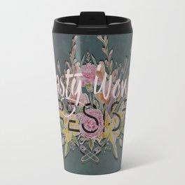 Nasty Women Resist: Les Fleurs de la Resistance Travel Mug