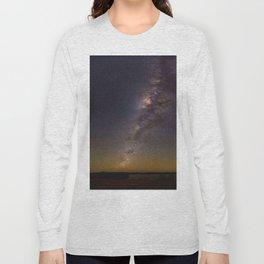 Milky Way Galaxy Star Night Sky Night Time Long Sleeve T-shirt