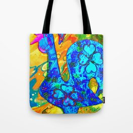 Galo de Barcelos done in acrylic pour Tote Bag