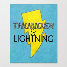 Thunder & Lightning Canvas Print