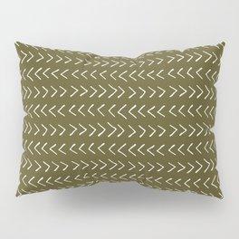 Arrows on Bronze-Olive Pillow Sham