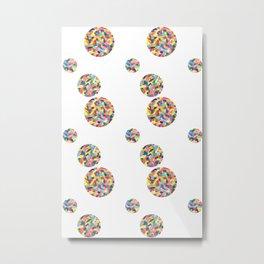 watercolor pattern 1 (white) Metal Print