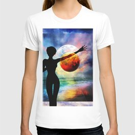 1-10 HALF FULL T-shirt