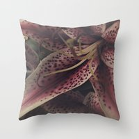 lily Throw Pillows featuring lily by inourgardentoo