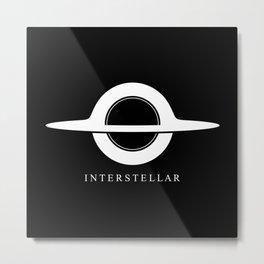 Interstellar - Gargantua Minimalist Metal Print