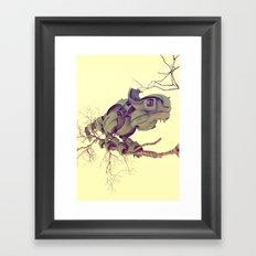 CYBORG CAMALEON Framed Art Print