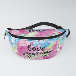 Peace love vegan Fanny Pack