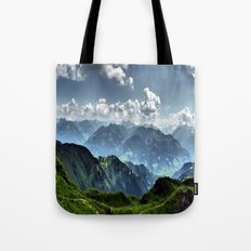 Mountain Peaks in Austria Tote Bag