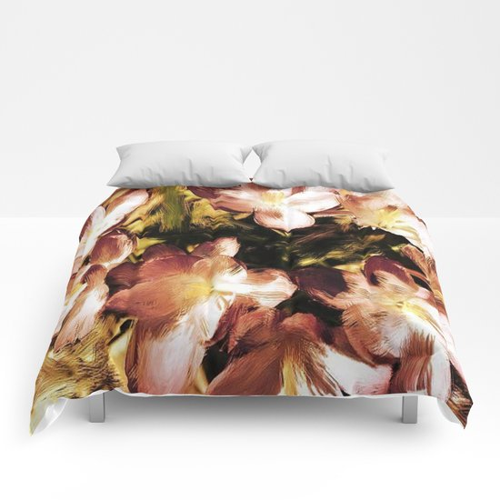 Painterly Vintage Crocus Comforters
