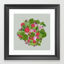 salad Framed Art Print