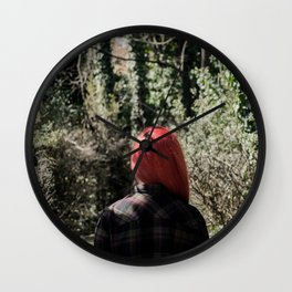 Photoshooting in the nature Wall Clock