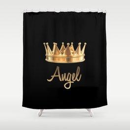 Gold Crown Angel Shower Curtain
