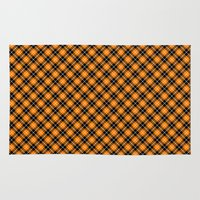 beaver Area & Throw Rugs featuring Beaver Plaid by Bob Greenwade