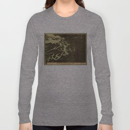 Vintage Map of The Puget Sound (1891) 2 Long Sleeve T-shirt