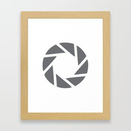 Camera Aperture Framed Art Print