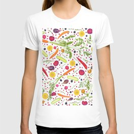 Fruits and vegetables pattern (21) T-shirt