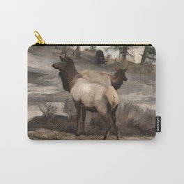 Young Elk Bucks   -  Banff Alberta Carry-All Pouch