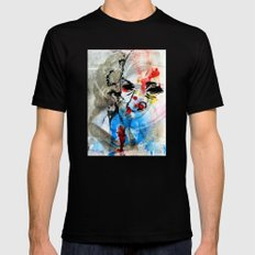 The Face Of The Saint MEDIUM Black Mens Fitted Tee
