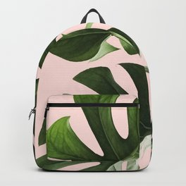 Monstera x Pink Backpack