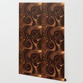 Textured Hammered Copper Wallpaper