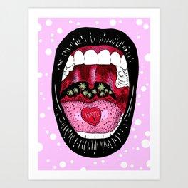 Scream (LoveHate) Art Print