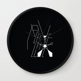 Recieve. 1of 3. on black. Wall Clock