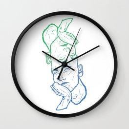 Hmm... - Blue Wall Clock