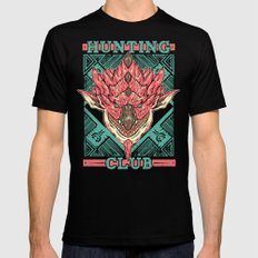 Hunting Club: Pink Rathian Black SMALL Mens Fitted Tee