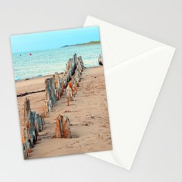 Wharf Remains on the Beach Stationery Cards