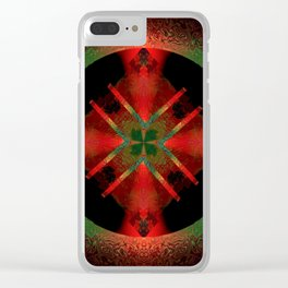 Spinning Wheel Hubcap in Scarlet Clear iPhone Case