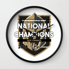 National Champions 2018 Wall Clock