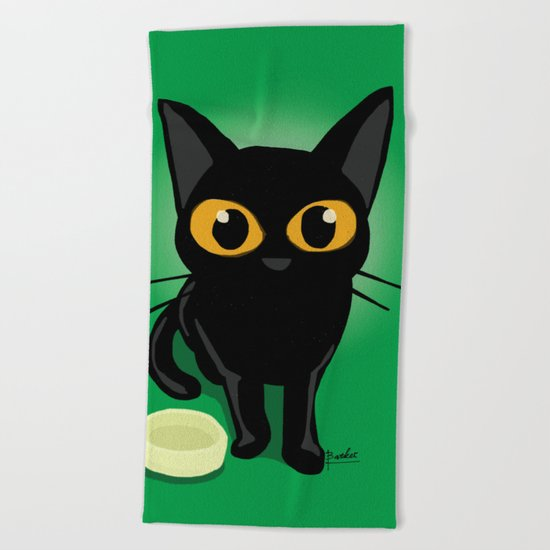Magical eyes Beach Towel