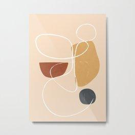 Modern Abstract Shapes 36 Metal Print