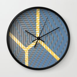 To Bee Or Not - arrow graphic Wall Clock