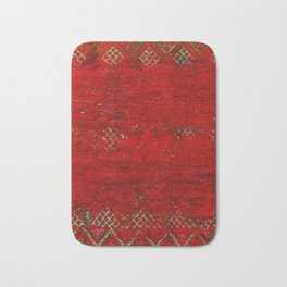 V17 Red Traditional Moroccan Carpet Texture. Bath Mat