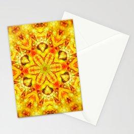 Psychedelic Mandala (Gold) Stationery Cards