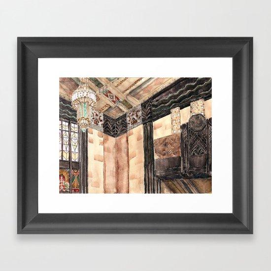 inside the Art Deco spaceship Framed Art Print