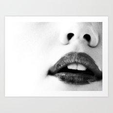 the unbearable kiss of a stranger Art Print