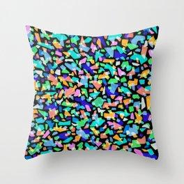 Neon Terrazzo Throw Pillow