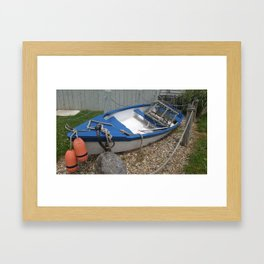 Dinghy by the Clamshack Framed Art Print
