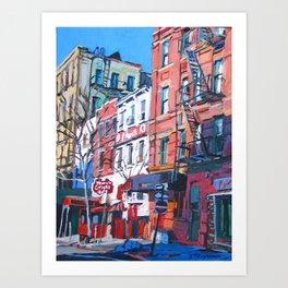 Grove Street in West Village Art Print