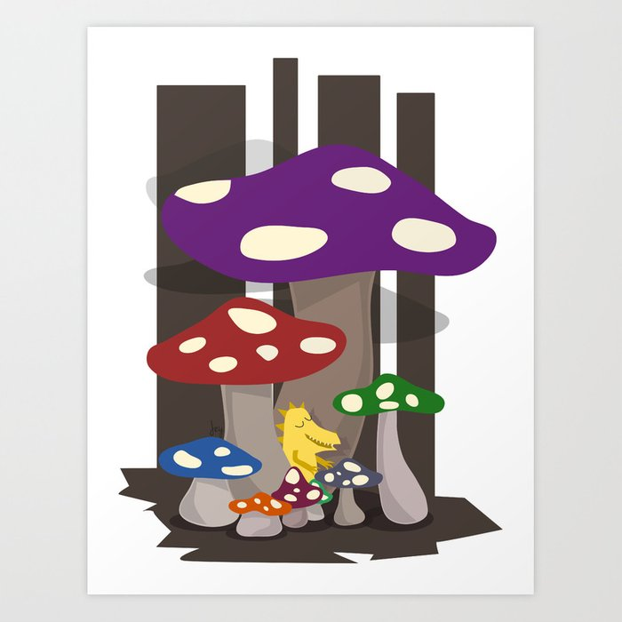 Kribug in Mushroomland Art Print