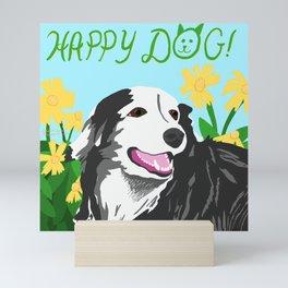 Happy Dog - Sophie the Border Collie Mini Art Print