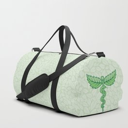 Caduceus with leaves Duffle Bag