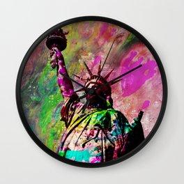 Statue of Liberty Abstract Art Wall Clock