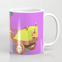 Cartoon car.Low Poly style Coffee Mug