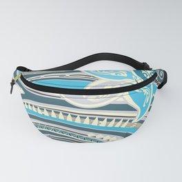 Polynesian Ocean Blue Tribal Threads Fanny Pack
