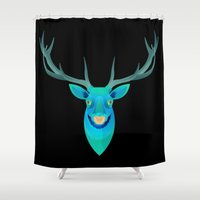stag Shower Curtains featuring Stag by James Boast